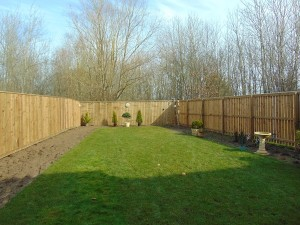 Large Private Rear Garden With Delightful Open Outlook