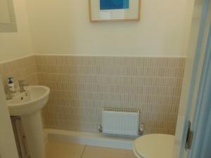 Half Tiled Cloakroom