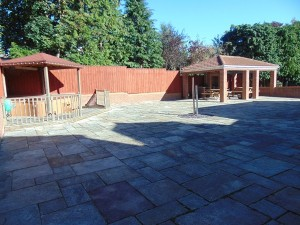 BBQ and Hot Tub Area
