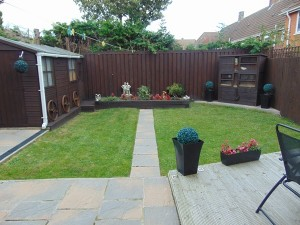 Delightful Well Laid Out Rear Garden