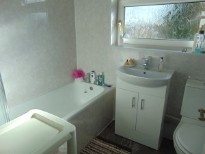 Newly Installed Fully Tiled Bathroom