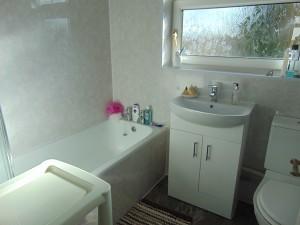 Newly Installed Fully Tiled Bathroom