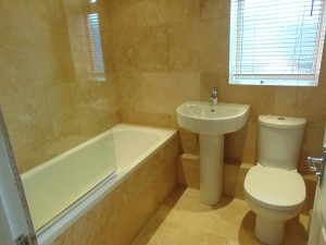 Newly Fitted Fully Tiled Bathroom