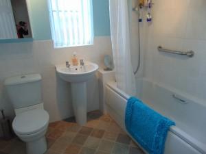 Half Tiled Family Bathroom
