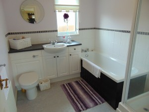 Part Tiled Family Bathroom