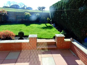 Lovely well laid out garden to rear with wonderful views