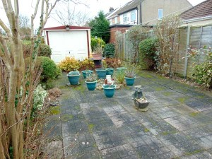 Pleasant Rear Garden Paved For Easy Maintenance