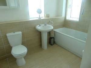 Part Tiled Family Bathroom