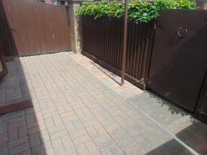Rear Garden Block Paved For Easy Maintenance