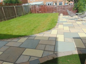 Pleasant Sunny Rear Garden With Patio Area