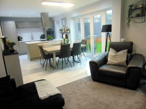 Stunning Open Plan Family Room/Kitchen Overlooking Rear Garden