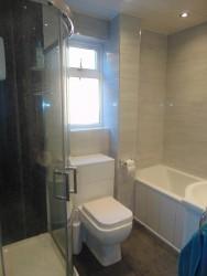 Fully Tiled Family Bathroom
