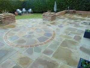 Beautiful Rear Garden With Impressive Indian Sand Stone Patio