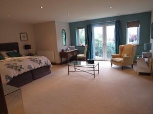 Master Bedroom with Juliet Balcony Overlooking Sunny South Facing Rear Garden